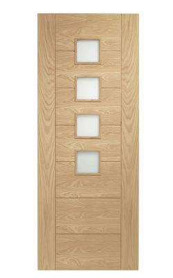 XL Joinery Palermo Original Internal Oak Door with Obscure GlassXL Joinery Palermo Original Internal Oak Door with Obscure Glass