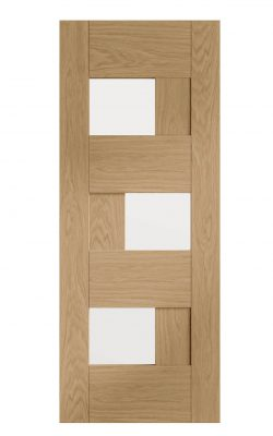XL Joinery Perugia Pre-finished Oak Door with Clear GlassXL Joinery Perugia Pre-finished Oak Door with Clear Glass