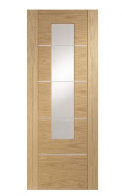XL Joinery Portici Pre-Finished Internal Oak Door with Clear GlassXL Joinery Portici Pre-Finished Internal Oak Door with Clear Glass