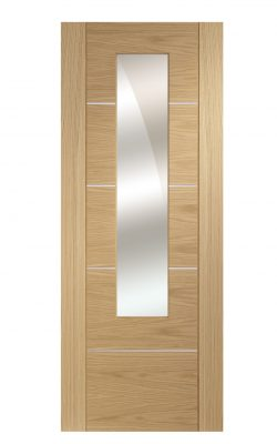 XL Joinery Portici Pre-Finished Oak Door with Mirror PanelXL Joinery Portici Pre-Finished Oak Door with Mirror Panel