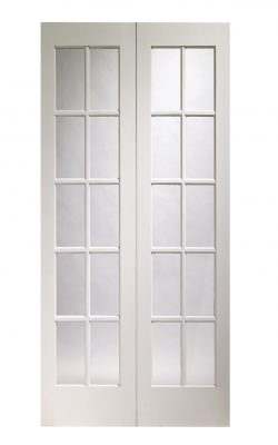 XL Joinery Portobello Pair Pre-Finished White Moulded Clear Internal Glazed DoorXL Joinery Portobello Pair Pre-Finished White Moulded Clear Internal Glazed Door