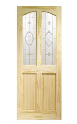 XL Joinery Rio Clear Pine Crystal Rose Glass Internal Glazed DoorXL Joinery Rio Clear Pine Crystal Rose Glass Internal Glazed Door
