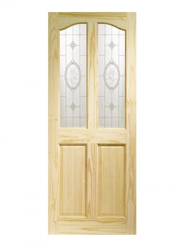 XL Joinery Rio Clear Pine Crystal Rose Glass Internal Glazed Door