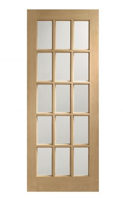 XL Joinery SA77 Oak Bevelled Glass Clear Internal Glazed DoorXL Joinery SA77 Oak Bevelled Glass Clear Internal Glazed Door