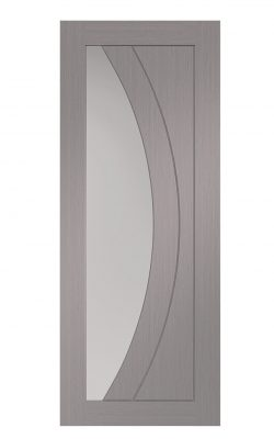 XL Joinery Salerno Pre-Finished Light Grey Clear Internal Glazed DoorXL Joinery Salerno Pre-Finished Light Grey Clear Internal Glazed Door