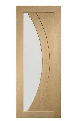XL Joinery Salerno Pre-Finished Internal Oak Door with Clear GlassXL Joinery Salerno Pre-Finished Internal Oak Door with Clear Glass