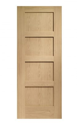 XL Joinery Shaker 4 Panel Oak Internal DoorXL Joinery Shaker 4 Panel Oak Internal Door