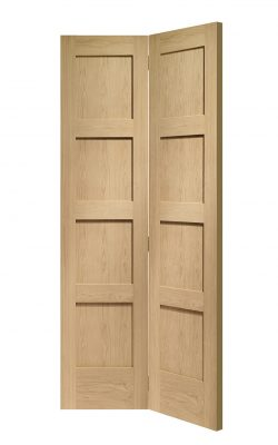 XL Joinery Shaker 4 Panel Bi-Fold Oak Internal DoorXL Joinery Shaker 4 Panel Bi-Fold Oak Internal Door