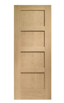 XL Joinery Shaker 4 Panel Oak FD30 Fire DoorXL Joinery Shaker 4 Panel Oak FD30 Fire Door