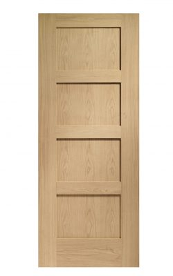 XL Joinery Shaker 4 Panel Pre-Finished Oak FD30 Fire DoorXL Joinery Shaker 4 Panel Pre-Finished Oak FD30 Fire Door