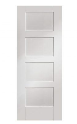 XL Joinery Shaker 4 Panel White Primed Internal DoorXL Joinery Shaker 4 Panel White Primed Internal Door