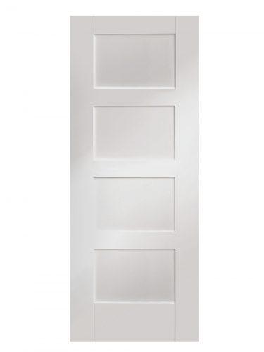 XL Joinery Shaker 4 Panel White Primed Internal Door