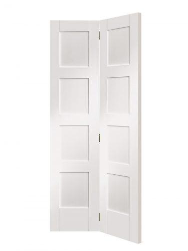 XL Joinery Shaker 4 Panel White Primed Bi-Fold Internal Door