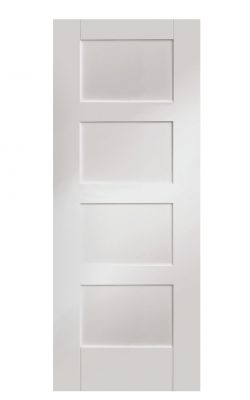 XL Joinery Shaker 4 Panel White Primed FD30 Fire DoorXL Joinery Shaker 4 Panel White Primed FD30 Fire Door