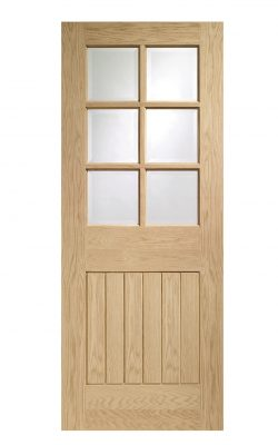 XL Joinery Suffolk Original 6 Light Oak Bevelled Glass Clear Internal Glazed DoorXL Joinery Suffolk Original 6 Light Oak Bevelled Glass Clear Internal Glazed Door