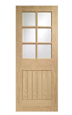XL Joinery Suffolk Original 6 Light Oak Clear Glazed FD30 Fire DoorXL Joinery Suffolk Original 6 Light Oak Clear Glazed FD30 Fire Door