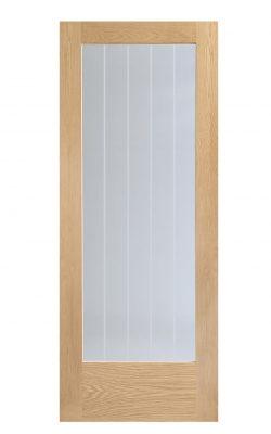 XL Joinery Suffolk Internal 1 Light Oak Door with Clear Etched GlassXL Joinery Suffolk Internal 1 Light Oak Door with Clear Etched Glass