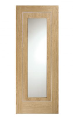 XL Joinery Varese Pre-Finished Internal Oak Door with Clear GlassXL Joinery Varese Pre-Finished Internal Oak Door with Clear Glass