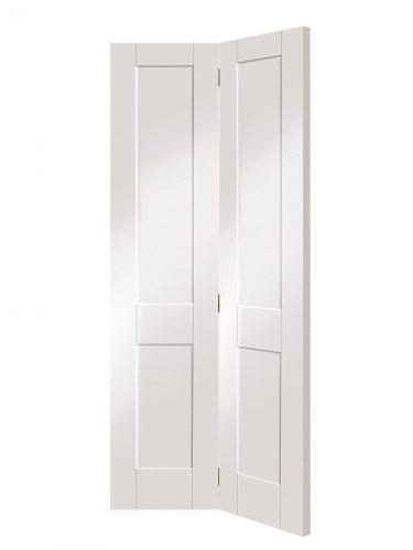 XL Joinery Victorian Shaker 4 Panel White Primed Bi-Fold Internal Door