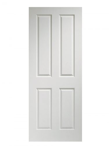 XL Joinery Victorian 4 Panel White Moulded FD30 Fire Door