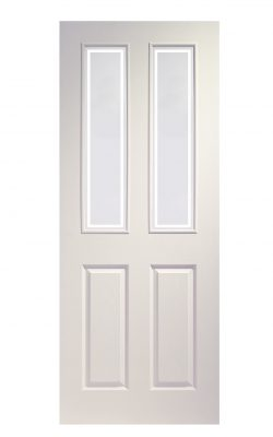 XL Joinery Victorian 4 Panel White Moulded Forbes Glass Internal Glazed DoorXL Joinery Victorian 4 Panel White Moulded Forbes Glass Internal Glazed Door
