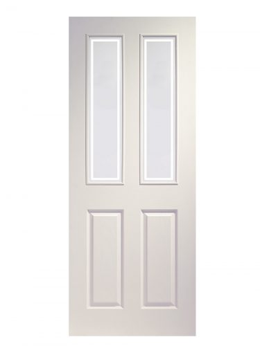 XL Joinery Victorian 4 Panel White Moulded Forbes Glass Internal Glazed Door