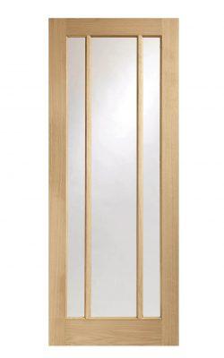 XL Joinery Worcester 3 Light Oak Clear Internal Glazed DoorXL Joinery Worcester 3 Light Oak Clear Internal Glazed Door