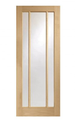 XL Joinery Worcester 3 Light Oak Clear Glazed FD30 Fire DoorXL Joinery Worcester 3 Light Oak Clear Glazed FD30 Fire Door