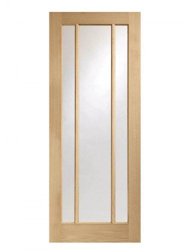 XL Joinery Worcester 3 Light Oak Clear Glazed FD30 Fire Door