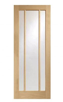 XL Joinery Worcester Pre-Finished Internal Oak Door with Clear GlassXL Joinery Worcester Pre-Finished Internal Oak Door with Clear Glass