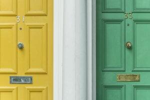 painted georgian front doors