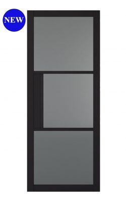 LPD BLACK TRIBECA 3L CLEAR GLAZED INTERNAL DOORLPD BLACK TRIBECA 3L CLEAR GLAZED INTERNAL DOOR