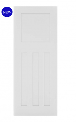 Deanta Cambridge 1930's White Primed Internal DoorDeanta Cambridge 1930's White Primed Internal Door
